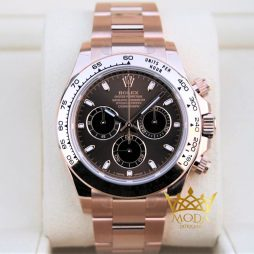 Rolex Daytona Eta Saat 116505 Rose Gold New Chocolate Dial
