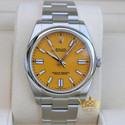 Rolex Oyster Yeni 41 MM Super Clone 3230 Yellow Dial 124300